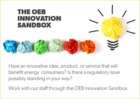 OEB Innovation Sandbox