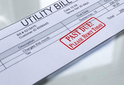 image of an overdue utility bill