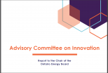 Advisory Committee on Innovation: Report to the Chair of the Ontario Energy Board