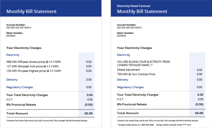 Understanding your electricity bill | Ontario Energy Board